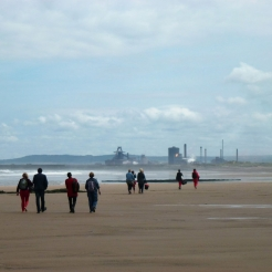 Fran Cottell artwork image: Seaton Sands,Seaton Carew - click to enlarge